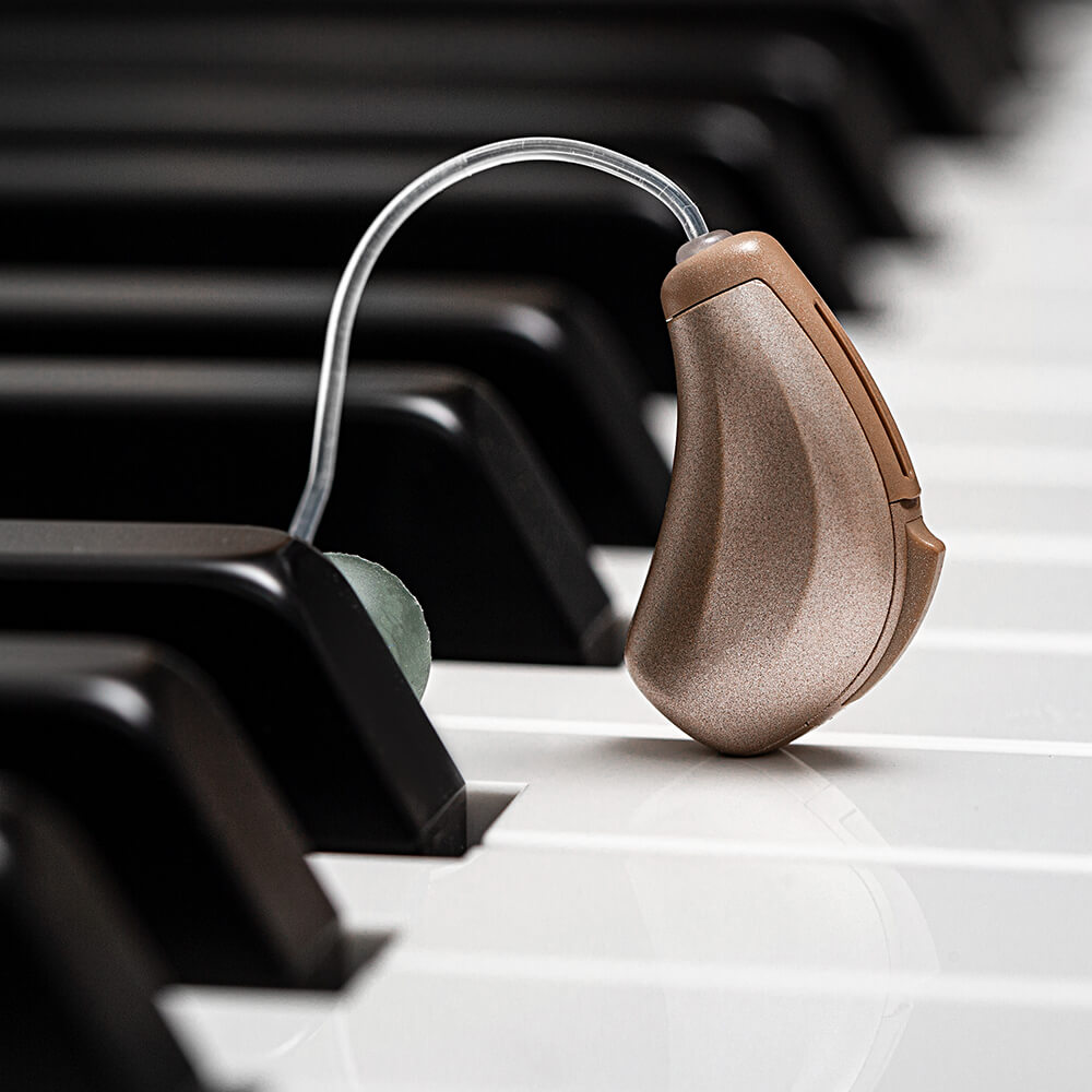 Hearing Aid On Piano